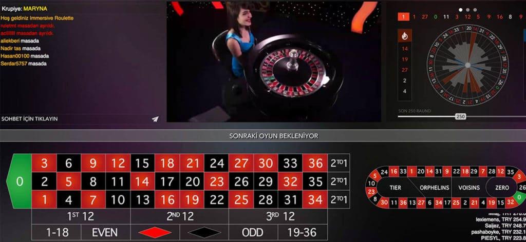 Anadolu Casino Canlı Rulet Oyunu ve Lobileri