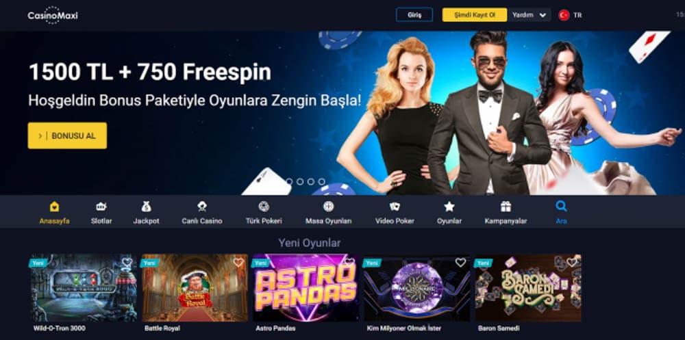 CasinoMaxi Kumar Sitesi Bonusları Nelerdir
