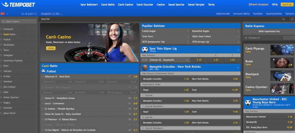 Tempobet Casino Kumar Sitesi Mobil Hizmetler